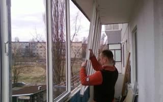 Замена стекол на лоджии и балконе