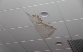 Демонтаж клеевого потолка