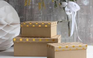 Простой декор картонных коробок