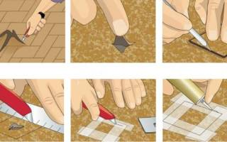 Как заделать дырку в линолеуме в домашних условиях