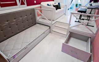 Комната для девочки-подростка с подиумом от дизайнера валерии исаковой