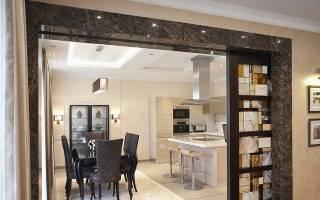 Раздвижные двери на кухню : фото вариантов