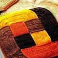Оригинальный вязанный коврик