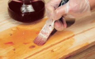 Как выполнить пропитку дерева маслом