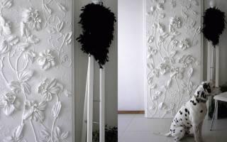 Создание объемных картин на стене: используемые техники и особенности декорирования