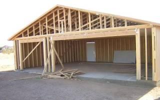 Рекомендации по постройке каркасного гаража
