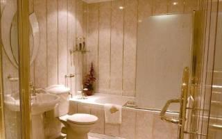 Отделка пластиковыми панелями стен и потолка ванной, туалета, кухни и лоджии