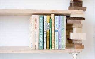 Как сделать полку для книг, обуви, цветов своими руками (фото и видео)