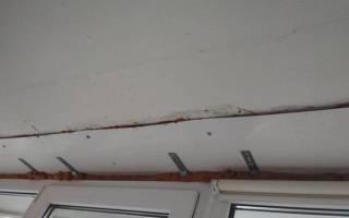 Ремонт козырька на балконе