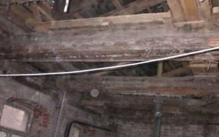 Как отремонтировать деревянную балку перекрытия своими силами