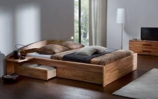 Кровать с ящиками для белья. чертеж
