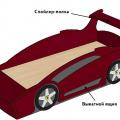 Кровать машинка своими руками из фанеры: сделать просто