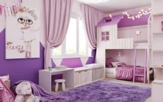 3 идеи фиолетовой комнаты для девочек