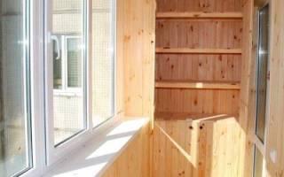 Как отделать балкон вагонкой