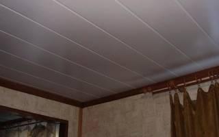 Обшивка потолка пластиковыми панелями своими руками (фото и видео)