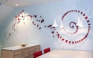 Бабочки на стенах своими руками: 3 идеи как и из чего их сделать