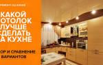Какой потолок лучше сделать на кухне: выбираем материал