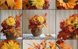 Осенние поделки: 10 идей для осеннего букета (33 фото)