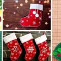 Поделки: новогодние чулки и сапожки для санта клауса (14 фото)