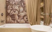 Проект ванной комнаты с мозаичной плиткой