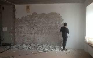Как снять старую штукатурку со стен: полный и частичный демонтаж