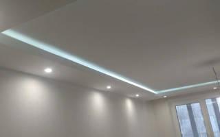 Особенности конструкции подвесного потолка из гипсокартона