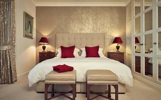 Оформление спальни обоями: сочетание цветов