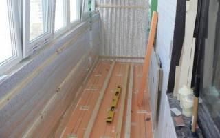 Отделка пола на лоджии и балконе