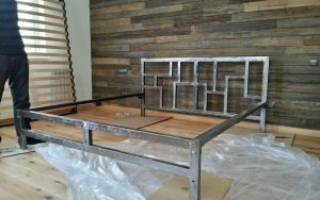 Металлическая кровать своими руками — подготовительные работы