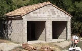 Строительство гаража из шлакоблоков от а до я