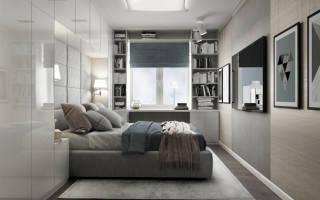 Дизайн спальни в хрущевке: маленькая, узкая