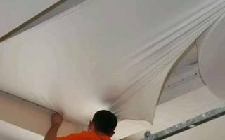 Натяжной тканевый потолок: монтаж своими руками