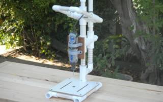 Сверлильный станок своими руками из пластиковых труб