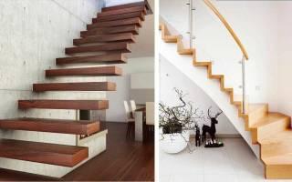 Красивое оформление ступеней лестницы в интерьере