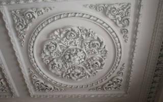 Гипсовый потолок своими руками: уникальный декор