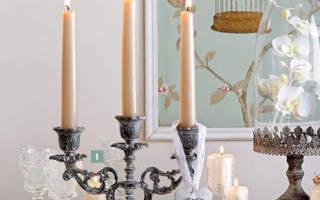 Особая атмосфера — украшаем интерьер свечами!