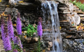 Водопад на даче. как сделать на участке водопад своими руками